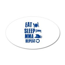 Eat Sleep MMA Wall Decal