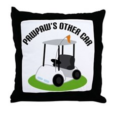 PawPaw Golf Cart Throw Pillow