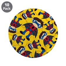 "Masked Superhero Boy Pattern 3.5"" Button (10"