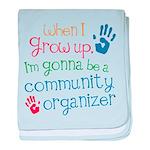Future Community Organizer baby blanket
