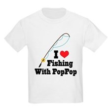 I Love Fishing With PopPop T-Shirt