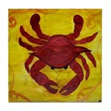 Red Crab Art Tile Coaster
