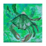 Green Crab Tile Coaster