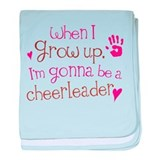 Future Cheerleader baby blanket