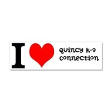 Quincy K-9 Connection Logo Car Magnet 10 x 3