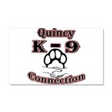 Quincy K-9 Connection Logo Car Magnet 20 x 12