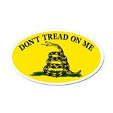 Dont Tread On Me Classic Oval Car Magnet