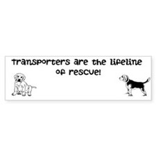 Transporters are the lifeline bumper stucker