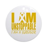 Unstoppable Appendix Cancer Ornament (Round)