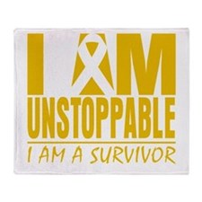 Unstoppable Appendix Cancer Throw Blanket