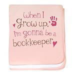Future Bookkeeper baby blanket