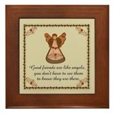 Good Friends are like angels Framed Tile