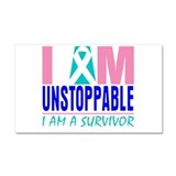 Unstoppable Thyroid Cancer Car Magnet 20 x 12
