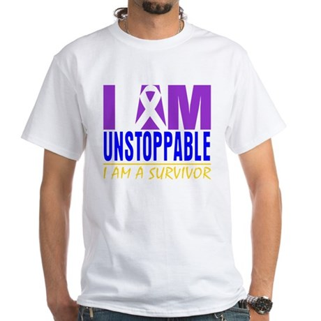 Unstoppable Bladder Cancer White T-Shirt