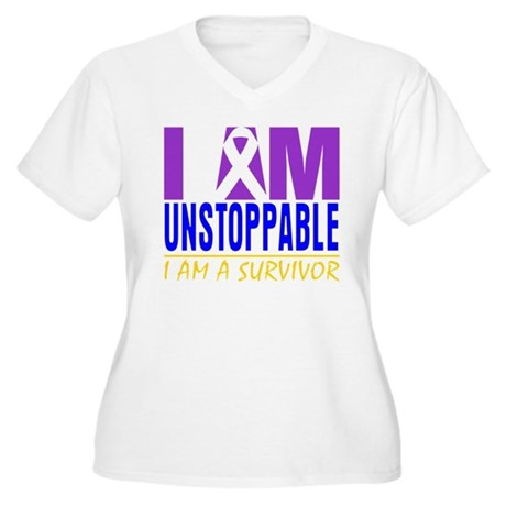 Unstoppable Bladder Cancer Women's Plus Size V-Nec