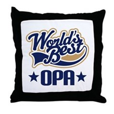 Opa (Worlds Best) Throw Pillow