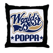 Poppa (Worlds Best) Throw Pillow