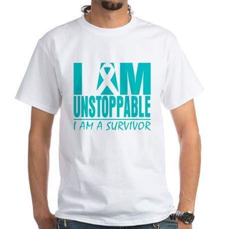 Unstoppable Cervical Cancer White T-Shirt