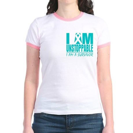 Unstoppable Cervical Cancer Jr. Ringer T-Shirt
