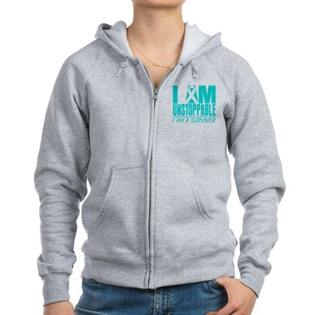 Unstoppable Cervical Cancer Women's Zip Hoodie