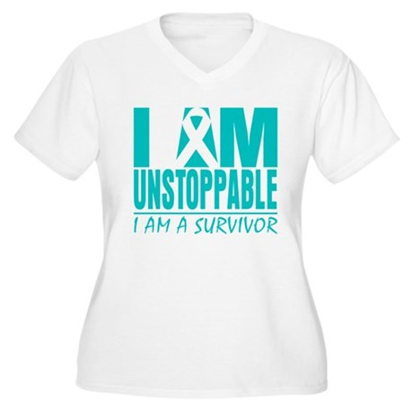 Unstoppable Cervical Cancer Women's Plus Size V-Ne