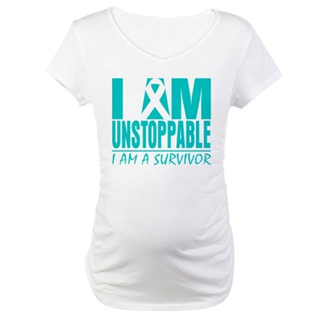 Unstoppable Cervical Cancer Maternity T-Shirt