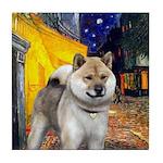 Cafe - Shiba Inu (std) Tile Coaster
