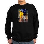 Cafe - Shiba Inu (std) Sweatshirt (dark)