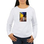 Cafe - Shiba Inu (std) Women's Long Sleeve T-Shirt