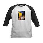 Cafe - Shiba Inu (std) Kids Baseball Jersey