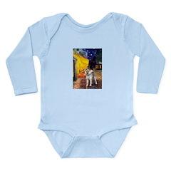 Cafe - Shiba Inu (std) Long Sleeve Infant Bodysuit