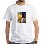 Cafe - Shiba Inu (std) White T-Shirt