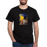 Cafe - Shiba Inu (std) Dark T-Shirt