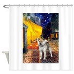 Cafe - Shiba Inu (std) Shower Curtain