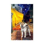 Cafe - Shiba Inu (std) Sticker (Rectangle 50 pk)