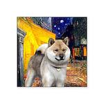 Cafe - Shiba Inu (std) Square Sticker 3