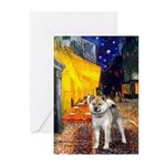 Cafe - Shiba Inu (std) Greeting Cards (Pk of 10)