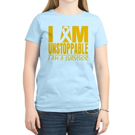 Unstoppable Childhood Cancer Women's Light T-Shirt