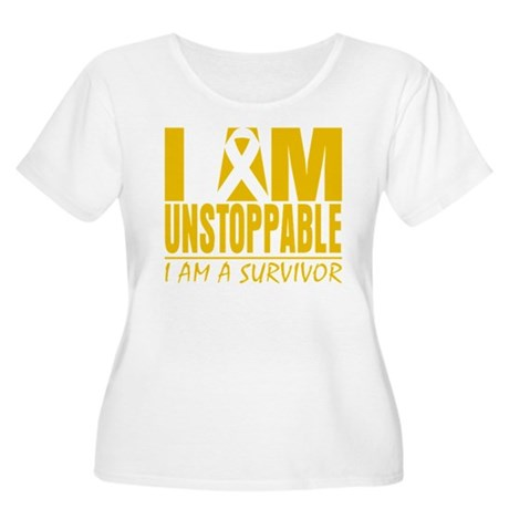 Unstoppable Childhood Cancer Women's Plus Size Sco