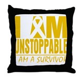 Unstoppable Childhood Cancer Throw Pillow