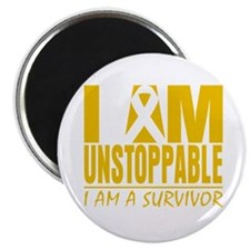 "Unstoppable Childhood Cancer 2.25"" Magnet (10 pack"