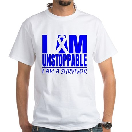 Unstoppable Colon Cancer White T-Shirt