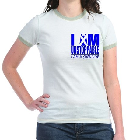 Unstoppable Colon Cancer Jr. Ringer T-Shirt