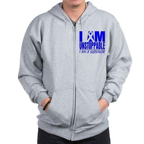 Unstoppable Colon Cancer Zip Hoodie