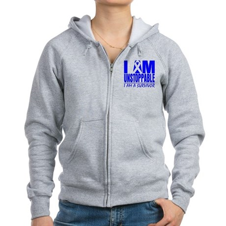 Unstoppable Colon Cancer Women's Zip Hoodie