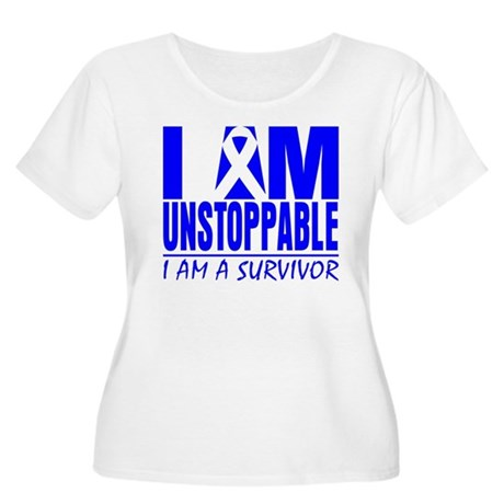 Unstoppable Colon Cancer Women's Plus Size Scoop N