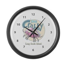Big Crabby Time... Large Wall Clock