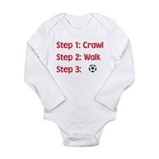 Funny Soccer baby Long Sleeve Infant Bodysuit