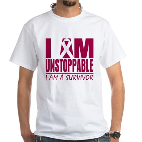 Unstoppable Head Neck Cancer White T-Shirt
