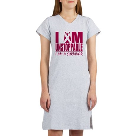 Unstoppable Head Neck Cancer Women's Nightshirt
